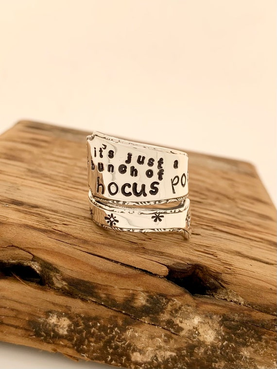 Hocus Pocus, Vintage Sterling Silver Spoon Ring