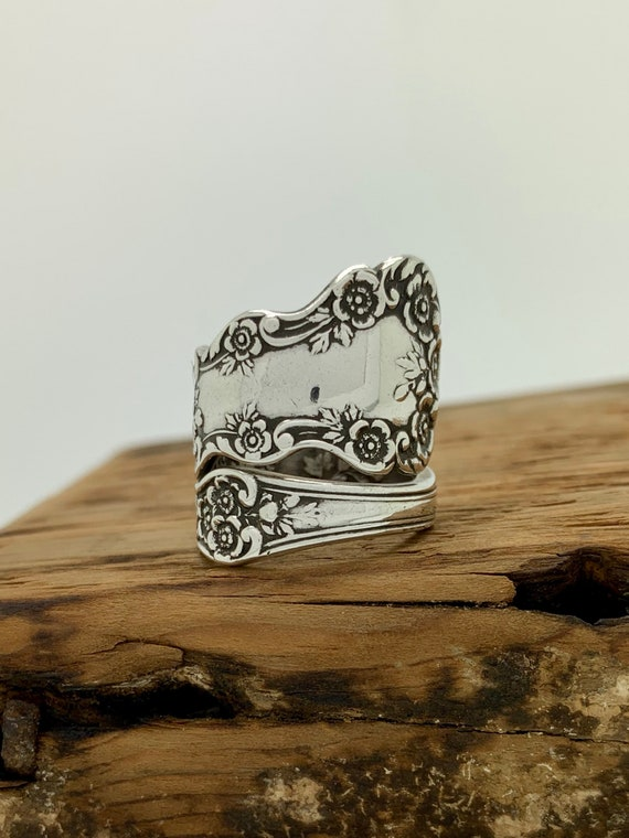 Vintage Sterling Silver Spoon Ring, Size 7