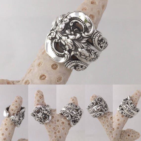Sterling Silver Wallace Spoon Ring, customized size