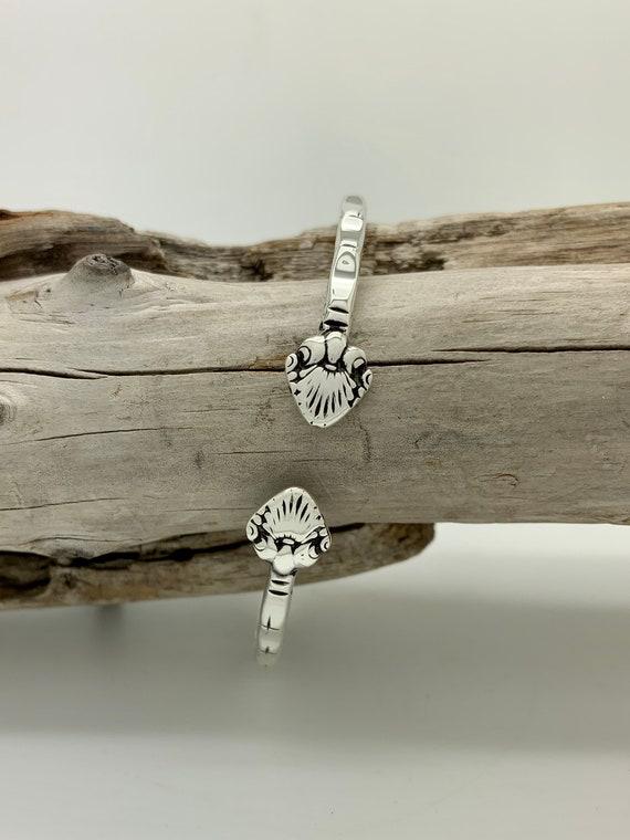 Sterling Silver Spoon Bangle Bracelet, Stackable