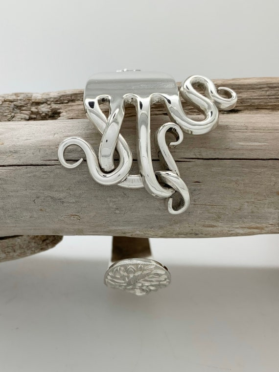 Ready to Ship, Sterling Silver Fork Cuff Bracelet