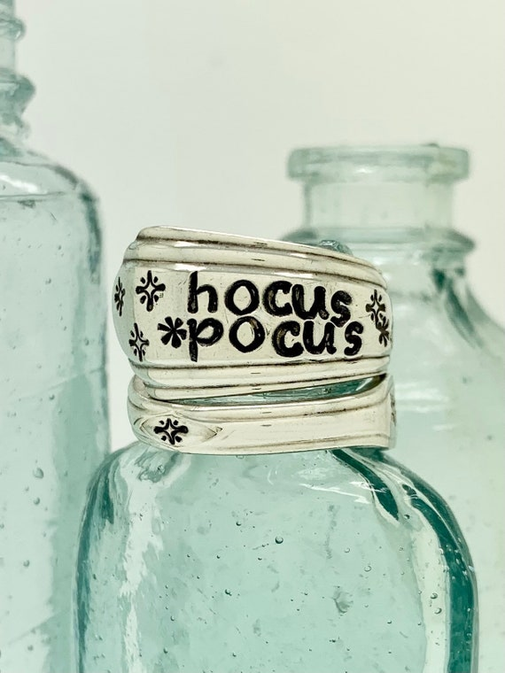 Hocus Pocus, Vintage Sterling Silver Spoon Ring