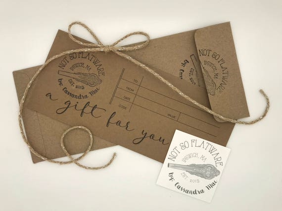 Mailable Gift Certificates for Not So Flatware