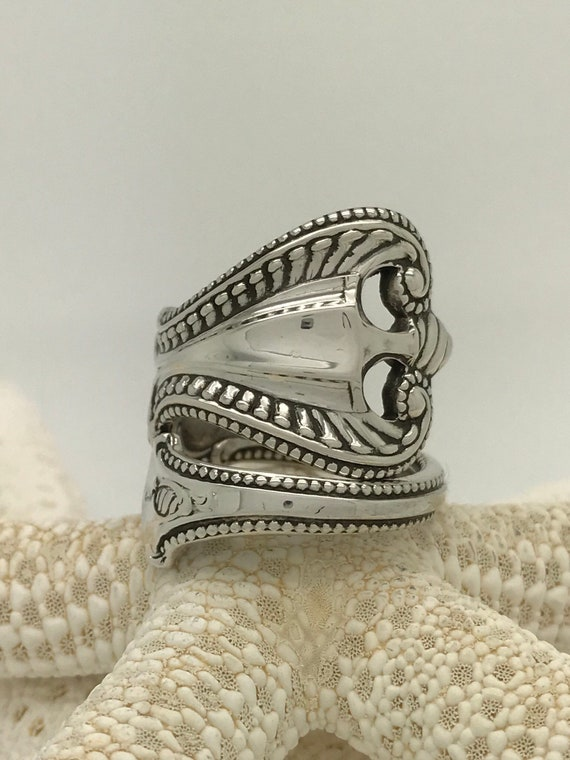 Size 8.5 Vintage Sterling Silver Towle Spoon Ring