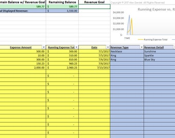 Budget And Savings Excel Spreadsheet Template Automated Etsy - Excel savings template