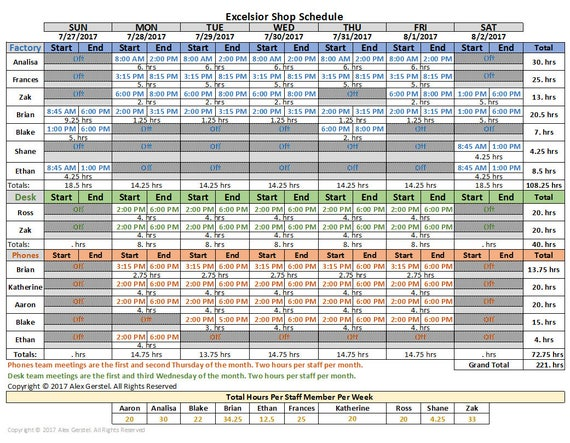 Stundenplan auf Excel-Vorlage automatische bequemen Einstieg