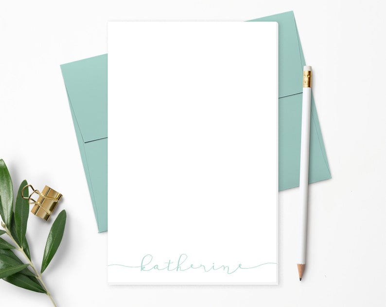 Modern Calligraphy Personalized Notepad  Personalized image 0