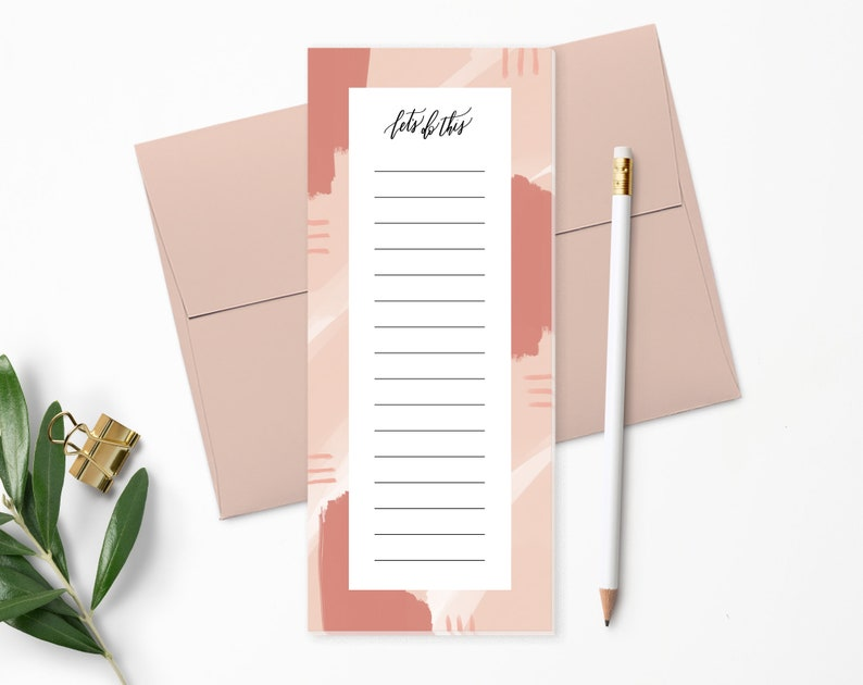 To Do List Notepad  Planner Notepad  Blush Pink  Desk Pad  image 0