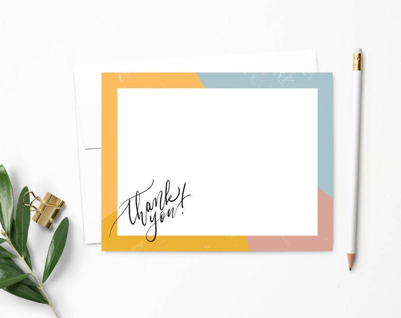 Modern Thank You Note Cards  Modern Calligraphy  Thank You Ultra White