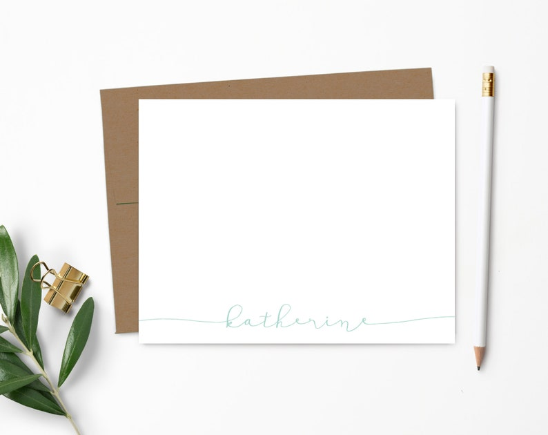 Modern Calligraphy Stationery  Calligraphy Stationery Set  100% Recycled Kraft