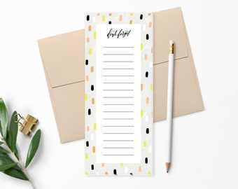 To Do List Notepad | Planner Notepad | Pink, Black & Chartreuse | List Pad | Checklist | Agenda | Let's Do This | Modern Calligraphy | NP142