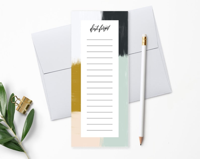 To Do List Notepad  Planner Notepad  Paint Strokes  Desk image 0