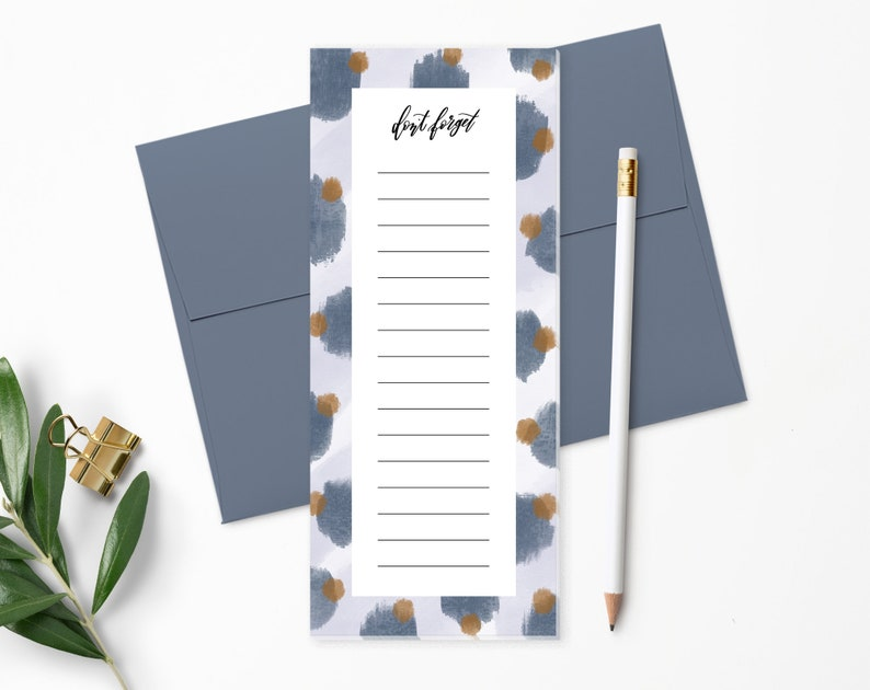 To Do List Notepad  Planner Notepad  Blue & Purple  Desk image 0