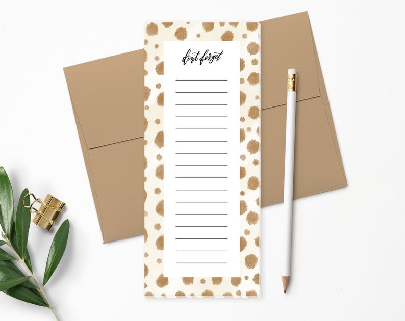 To Do List Notepad  Planner Notepad  Animal Spots  Desk Pad image 0