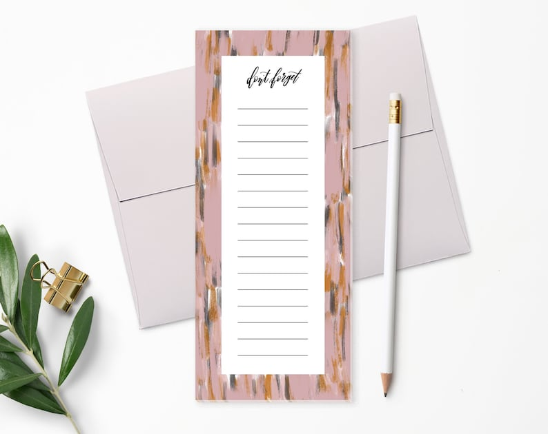 To Do List Notepad  Planner Notepad  Pink Paint  Desk Pad  image 0