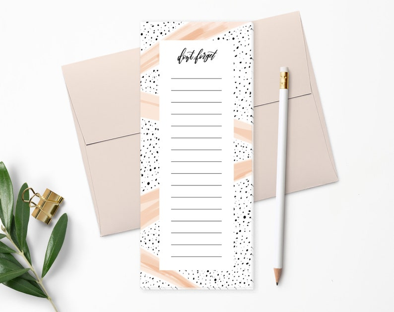 To Do List Notepad  Planner Notepad  Black Dots & Pink image 0