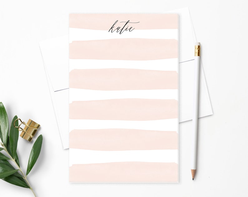 Personalized Notepad. Personalized Note Pad. Watercolor image 0