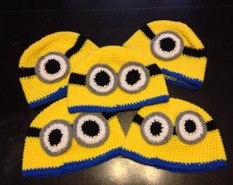 Crochet Yellow Guy Hat Avaliable in mulitiple sizes