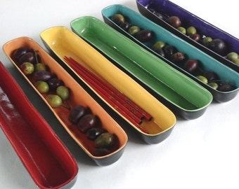 Colorful Ceramic Olive Tray
