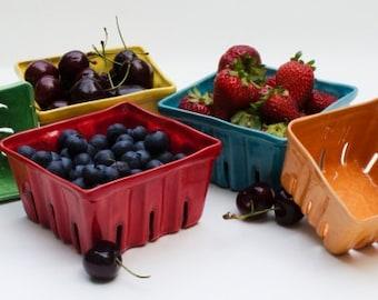 Ceramic Berry Baskets, Berry Boxes, Fruit Baskets, Berry Box, Fruit box, Fruit basket, Berry Bowls, Colorful Ceramics, Strawberry, berry