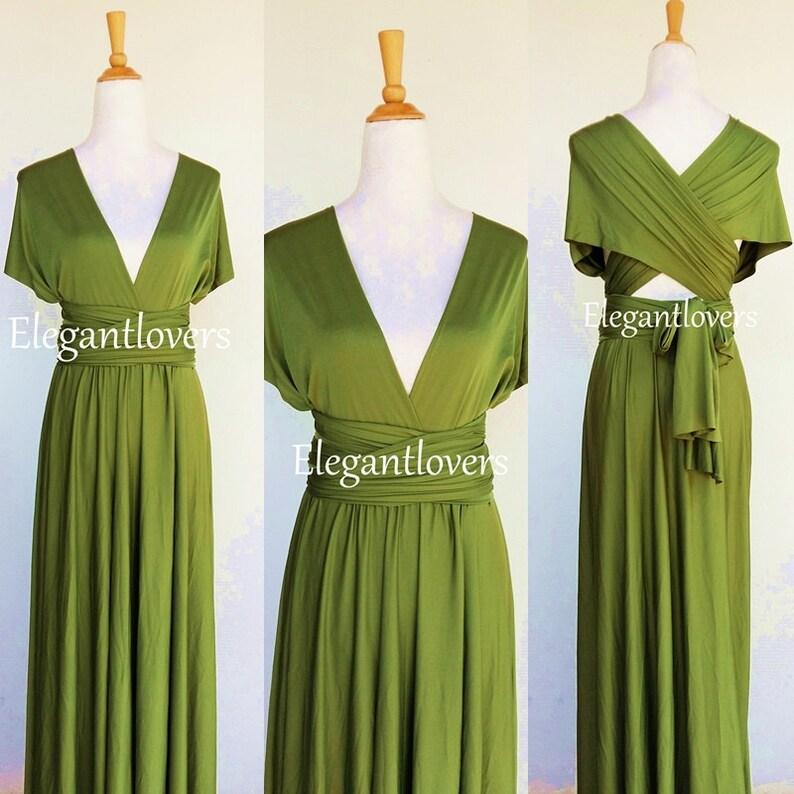Sage Wedding Bridesmaids Dress Infinity Dress Wrap Dress image 1