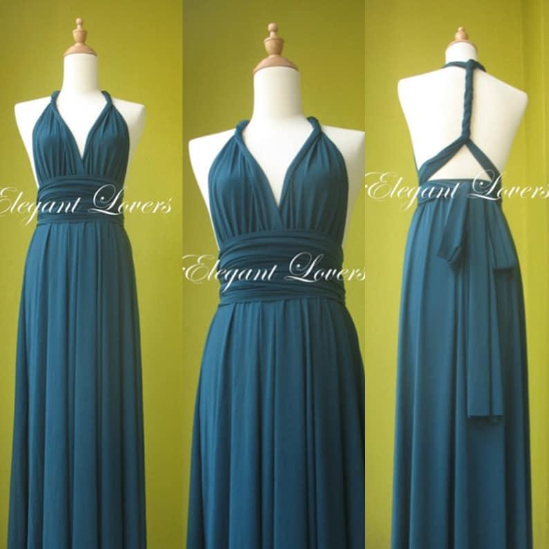 a2caf9d13a5 Convertible Dress Teal Wedding Dress Bridesmaid Dress Infinity