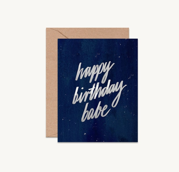 Happy Birthday Babe Birthday Card For Boyfriend Husband Etsy