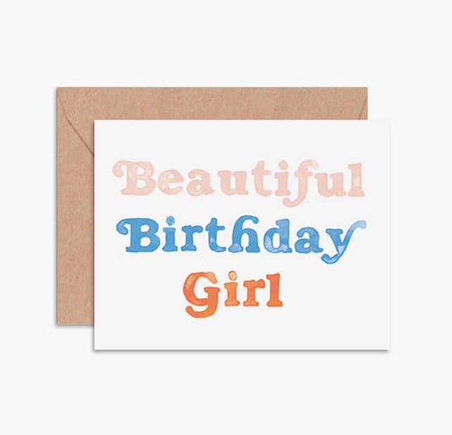 Birthday girl card, best friend birthday card, girlfriend birthday card, bestie birthday card, friend birthday card, modern birthday card