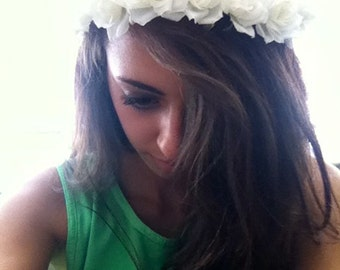 Made to order flower crown headband in a variety of colors! Weddings, parties, bachelorettes, wholesale and fashion crowns!
