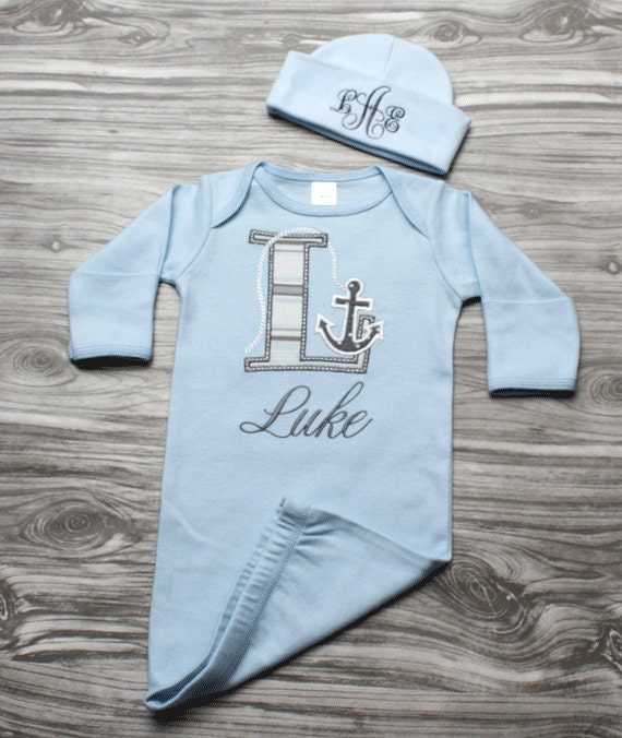 f9123662 Baby boy coming home outfit nautical newborn baby gift blue | Etsy