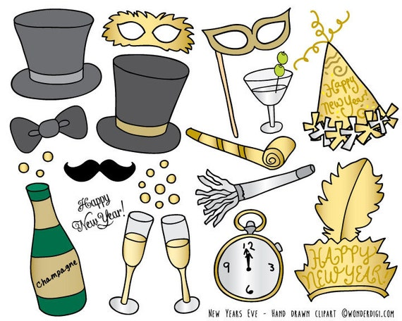 new years eve clip art party clipart new years day clip art etsy new years eve clip art party clipart new years day clip art hand drawn clip art