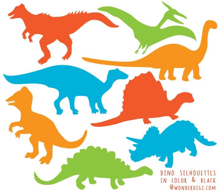 dinosaur clipart dinosaurs silhouette clip art dino etsy rh etsy com Realistic Dinosaur Clip Art T-Rex Dinosaur Clip Art