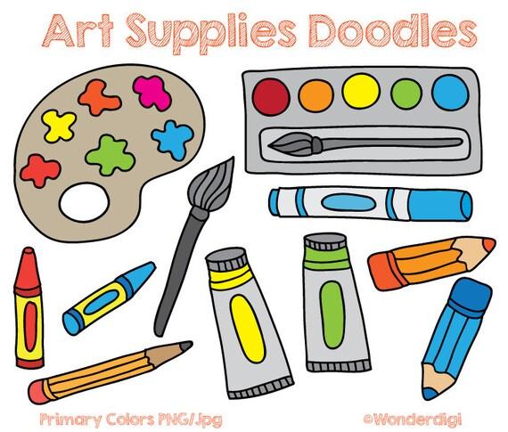 art supplies clip art doodles kids clipart school clipart etsy rh etsy com art supplies clipart black and white art supplies clipart