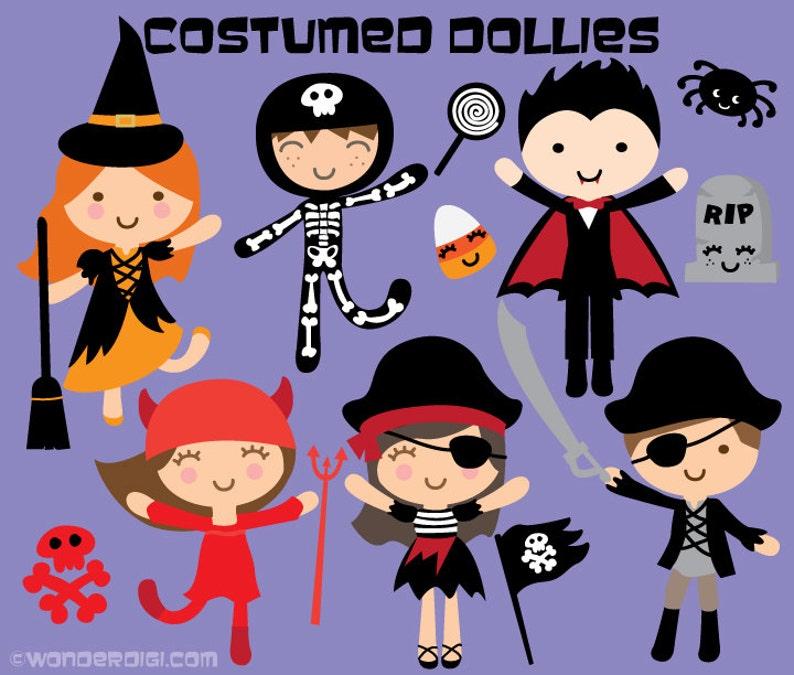 a865d6c92 Halloween Clipart Kids Costume Clipart Kawaii Clip art