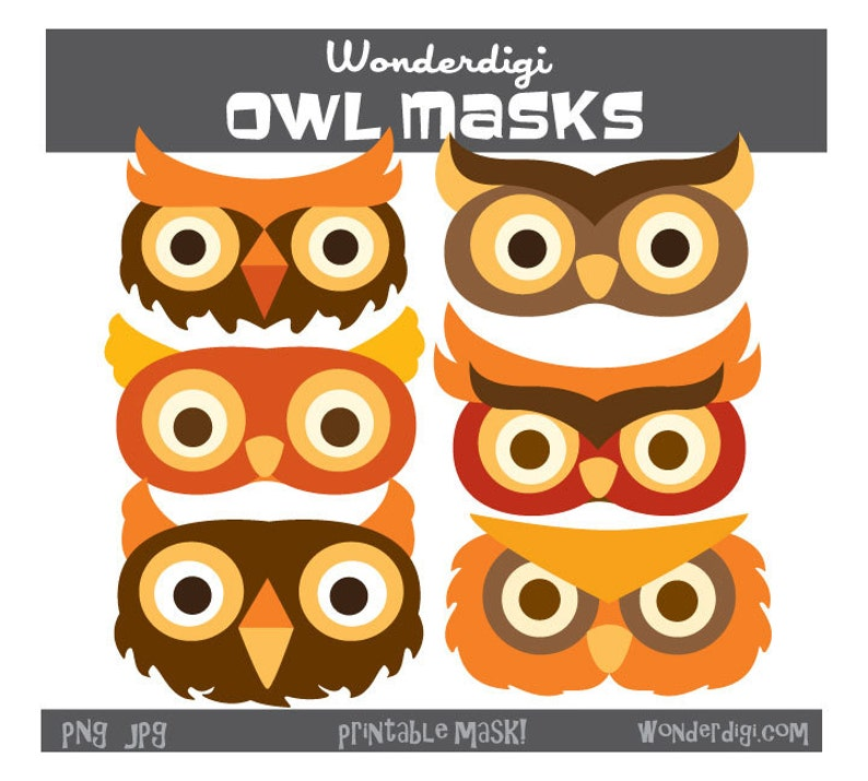 image relating to Printable Owl Mask identified as Printable Owl - Owl Facial area Mask- Owl Mask clip artwork - Owl clipart