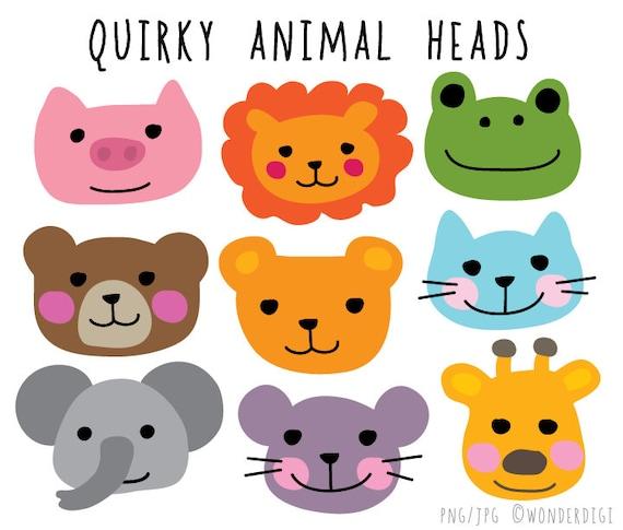 Amazon.com: Animal Heads Clipart-Vector Clip Art-Vinyl Cutter Plotter  Images-T-Shirt Design Graphics CD
