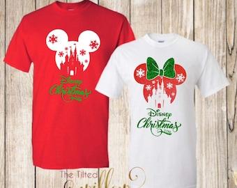 c24aeb460 Disney Christmas Shirts ~ Disney Trip Shirt ~ Disney Shirt ~ Disney Trip Tee  ~ Mickey and Minnie Castle Shirts