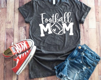 04bef561 Football Mom Shirt - Football Shirt ~ Football Mom Tee ~ Football shirts ~  Football Mom Shirts ~ Grunge Foot