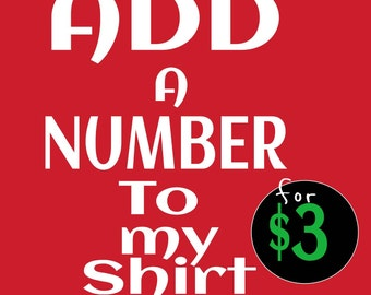 Add a Number to my Shirt Order