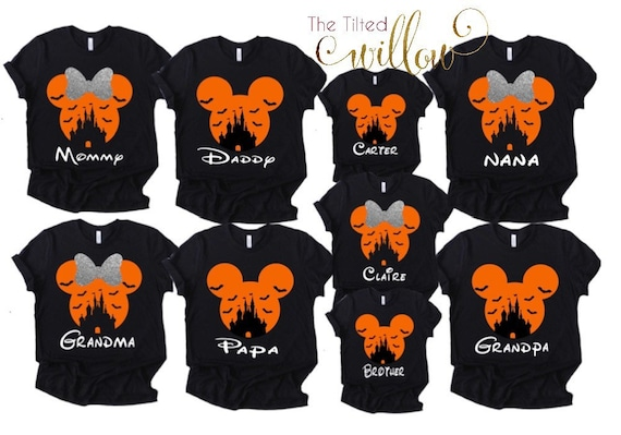 Disney Halloween Shirts Etsy.Disney Family Halloween Shirts Disney No So Scarey Shirt Disney Halloween Shirt Dianey Castle Halloween Shirts All Sizes