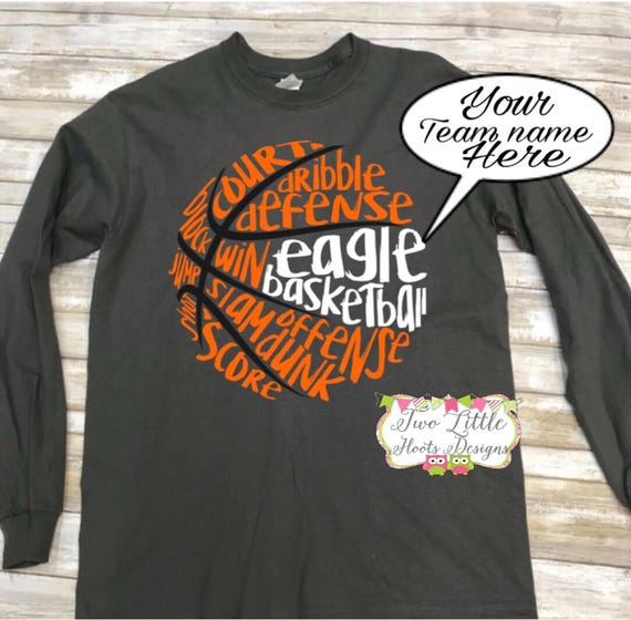 Basketball Personalized Long Sleeve Tee ~ Basketball Team Name ~ Basketball  ~ Basketball Shirt