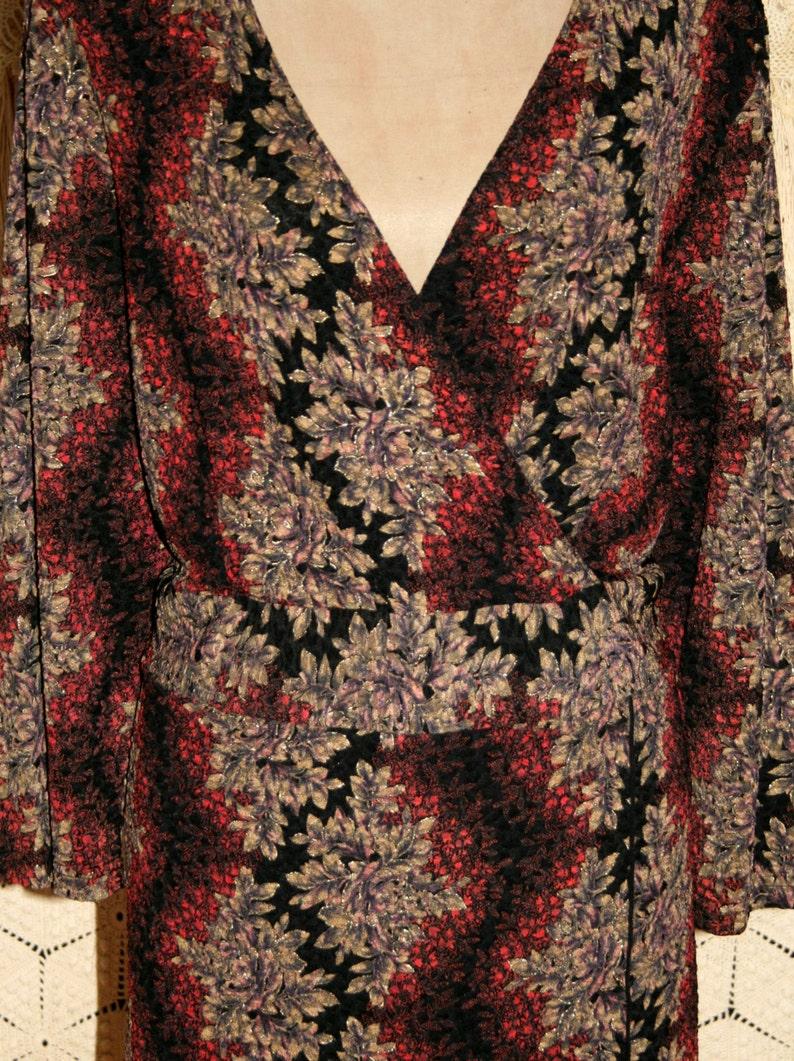 Womens Plus Size Tops 2X Blouse 34 Sleeve V Neck Black Print Fall Clothing Boho Bohemian Plus Size Clothing Coldwater Creek Womens Clothing