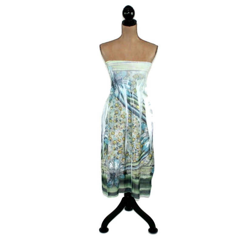 e702f619c58 Boho Beach Dress XS Small Strapless Summer Dress Women