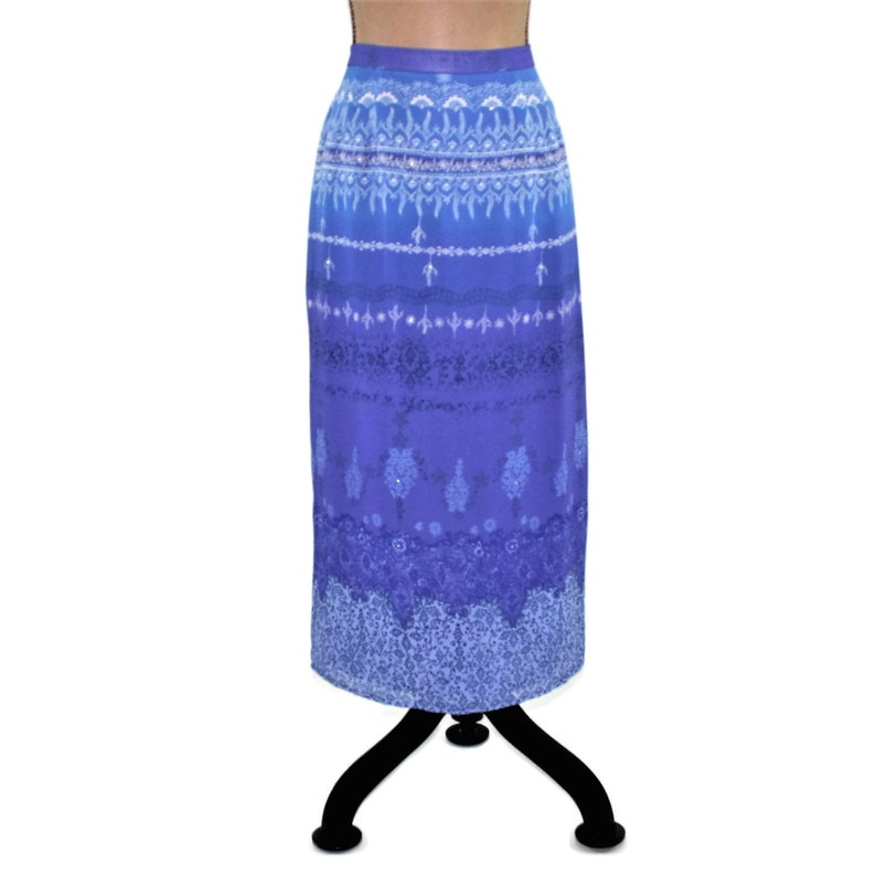 c312e29d8f17e8 Maxi Skirt Petite Size 10 Long Pencil Skirt Straight Chiffon | Etsy
