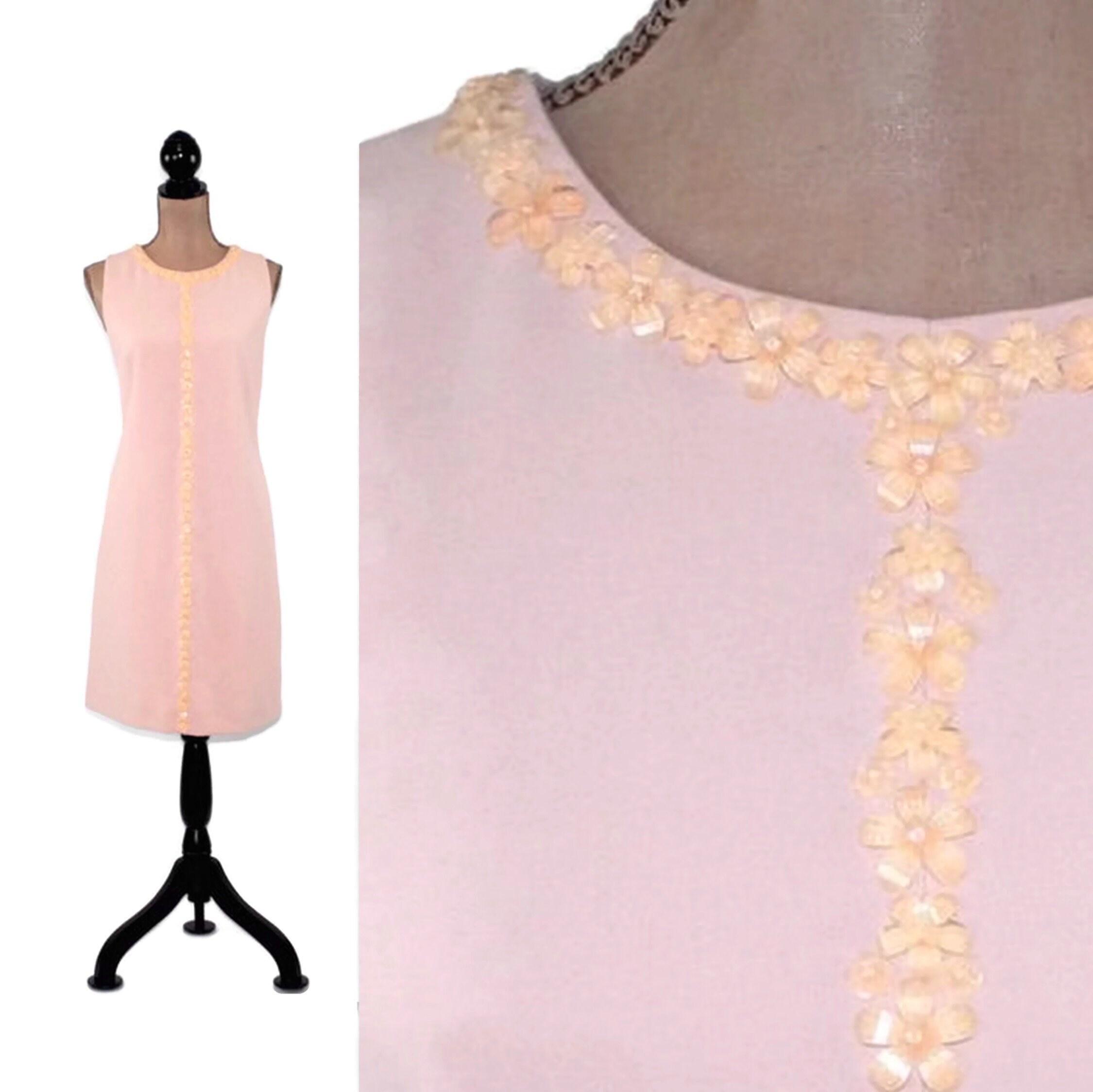 081541199b95 Sleeveless Dress Women Size 6 Tahari Midi Blush Pink Beige | Etsy
