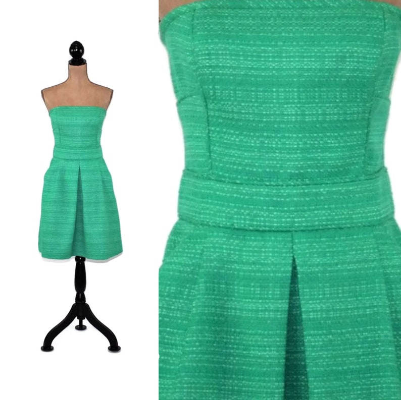 afd27fbe0c1 Strapless Green Dress with Pockets Medium Size 10 Banana