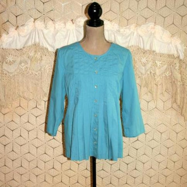 fdbf02fa0c2d6 J Jill 3 4 Sleeve Cotton Tunic Tops Women Medium Loose Fit