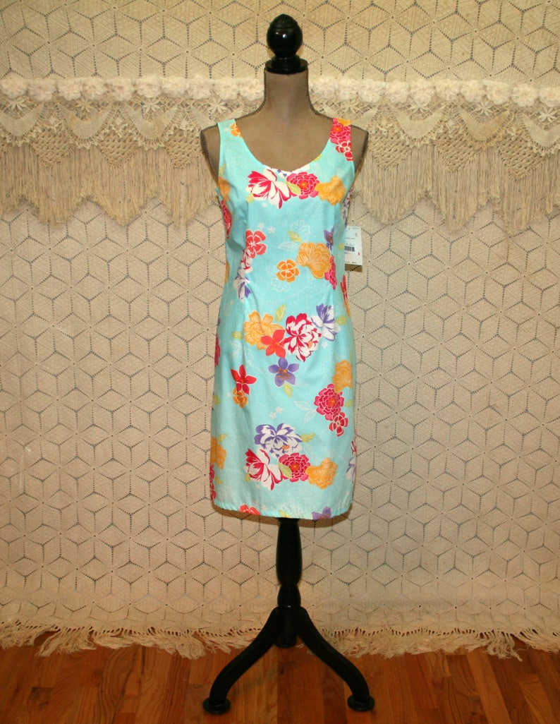 cb1e92e18 Light Blue Floral Summer Dress Cotton Sundress Petite Midi