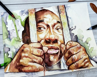 John Coffey from the Green Mile Original Painting of