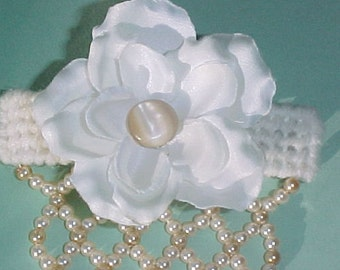 French Style Barrette Wedding White
